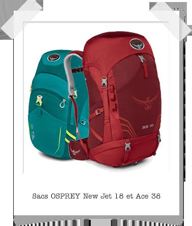 Sacs Opsrey New Jet 18 et Ace 38
