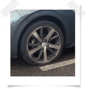 pneu-crevé